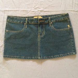 Royal Bones denim mini skirt Size L Like new
